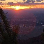 Sun setting over Albuquerque from Sandia Peak.
