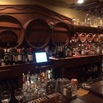 This is the bar that was preserved from the 1800s in the TAP room.