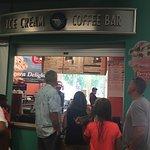 ice cream in visitor's center