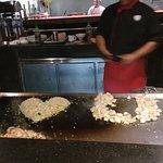 restaurante de comida japonesa, pedimos esa tepanyaki , muy divertido