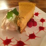 Pumpkin cheesecake.  Great!