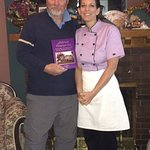 The Author & Adrian with her cookbook, which I purchased