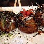 "Takoyaki - battered and deep fried  octopus ""balls"""