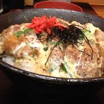Pork cutlet, egg and rice