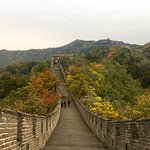 Autumn colors in Oct at the Great Wall of China