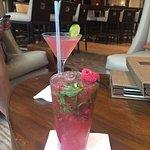 Raspberry Mojito and cosmopolitan