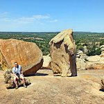 A large boulder field on the southwest flank of Enchanted Rock.