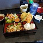 Teriyaki Chicken and Tempura Combination Lunch