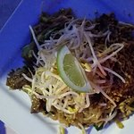 Sea food special and beef pad thai, very nice