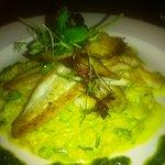 fish and crab risotto