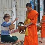 Almosengang der Mönche Foto