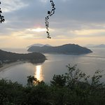 Sunrise over the Seto Inland sea from Oval Benesse, Naoshima, Japan
