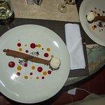 Schokoladenmouse mit Vanille-Eis - ein Traum