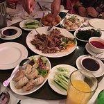 Birthday meal. Starters. Crispy duck, dumplings..