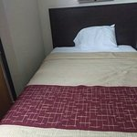 One of the two, very comfortable double beds in room