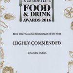 Best international restaurant of the year