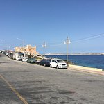 View from front of hotel towards Gozo