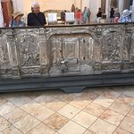 Superb silver altar piece on display in St Andrew's Cathedral (Duomo di Sant'Andrea Apostolo)