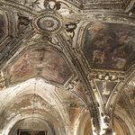 Lavishly decorated vaulting in the Crypt of St Andrew's Cathedral (Duomo di Sant'Andrea Apostolo