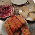 Tomatoe bread and jamon iberico