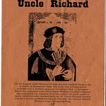 """Programme for """"Uncle Richard"""" by Tell Tale Presents on 21st October 2016"""