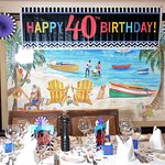I supplied the 40th birthday decorations but everything else belongs to the restaurant