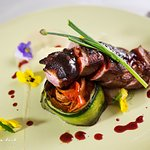 Seared Duck breast with vegetable tian
