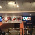 The menu and service area