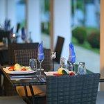 Elegant club-style waterside dining
