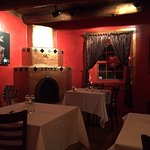 One of two dining rooms at El Meze