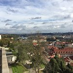 Blick auf die Moldau von der Burg
