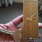 Cool brass entry key
