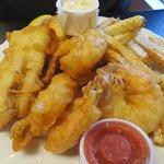 Shrimp and Haddock dinner