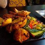 Vegetarian Platter with dips / sauces