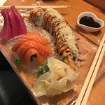 Sashimi and Holiday Roll