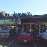 Mel's with ample non-metered parking! Definitely a plus!!