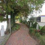 This walk leads to John Milton's Park near the Lake