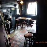 One of the small rooms in the pub