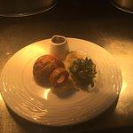 Venison and wild mushroom pie, parsnip purée,  honey roasted parsnip, hispi cabbage, venison jus