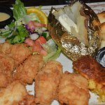 Atlantic Fried Cod dinner. Very Very good.