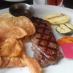 Steak was tough; chips greasy.