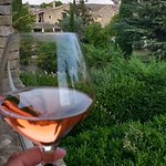 View from my balcony, with a wonderful glass of Rose!
