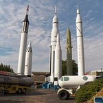 Outside exhibit at U.S. Space & Rocket Center