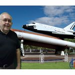 you can take a selfie with background space shuttle display