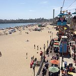 Inside Boardwalk and beach