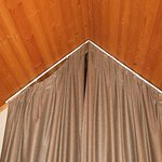 Drapes not hung properly