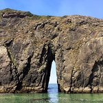 Harris Beach hole rock