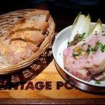 Spatchcock terrine with foie gras, pistachio and raisins