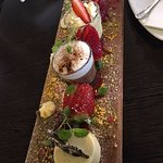 Dessert tasting plate for two. Yummy. Light and delicious. Just do it!