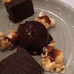 The flourless chocolate is rich but balanced with the dark chocolate ice cream. The food here is